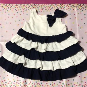 Adorable Janie and Jack navy blue and white dress!